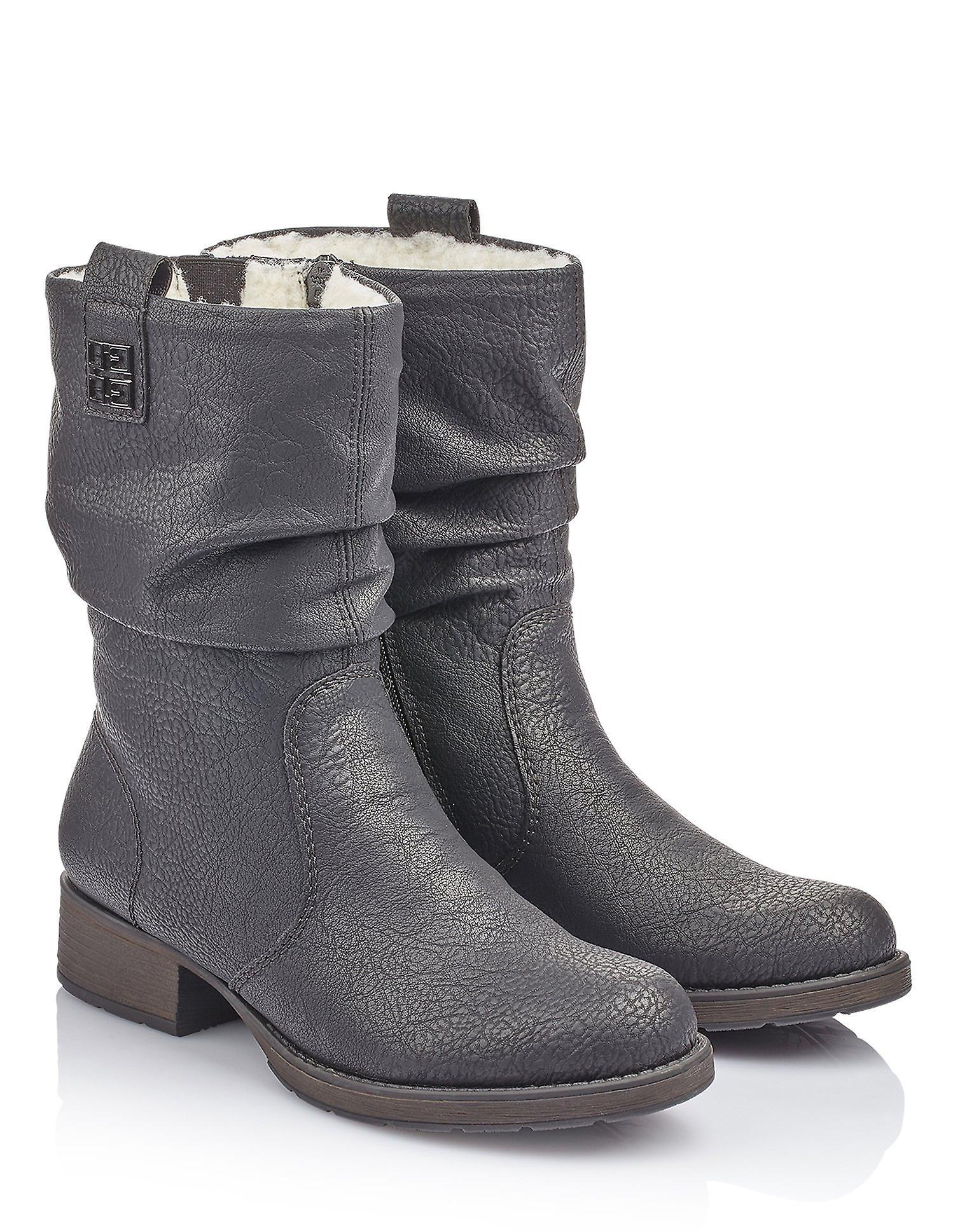 Rieker greece black ankle boots womens black - Remise particulière