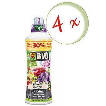 Sparset: 4 x КОМПО БИО цветочное удобрение, 1,3 литра