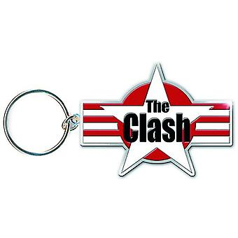 The Clash Keyring Keychain Star and Stripes logo new Official