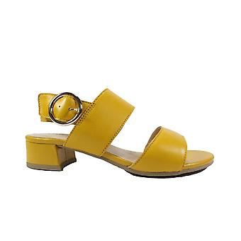 Caprice 28202 Yellow Leather Womens Slingback Sandals