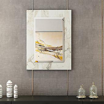 Spiegel Lopus White Color, Melaminischer Chip Chrom, L45xP1,8xA60 cm