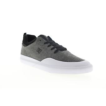 DC Infinite  Mens Gray Canvas Lace Up Skate Sneakers Shoes