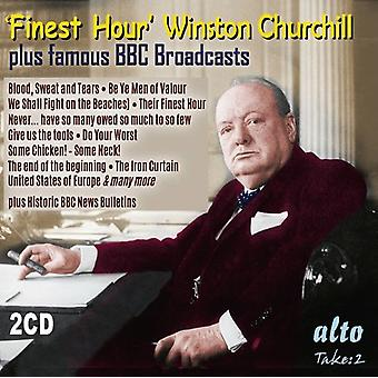 Churchill, Winston / BBC Bulletins - Finest Hour Winston Churchill's Greatest Speeches [CD] USA import