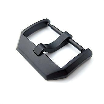 Strapcode katsella solki 20mm laadukkaita ruostumaton teräs 316l jousitanko tyyppi 3mm-tongue solki 56, hiili musta