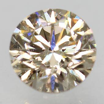 Cert 0.78 Carat TL Brown VS1 Round Brilliant Enhanced Natural Diamond 5.76mm 3VG