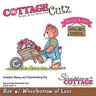 Scrapping Cottage CottageCutz Ben with Wheelbarrow of Love