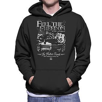 Route 66 Feel The Freedom Americana Men's Hooded Sweatshirt