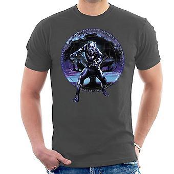 驚嘆ブラックパンサー ツリー モンタージュ メンズ t シャツ