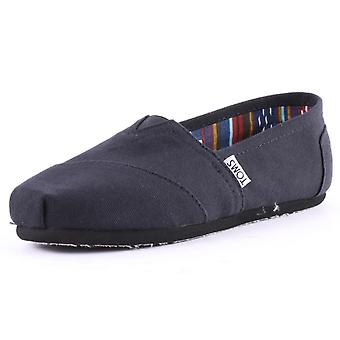 Toms Classic Womens Slip On Shoes in Black Black