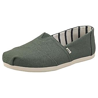 Toms Classic Bonsai Womens Espadrille Shoes in Green