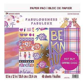 Craft Smith Fabulousness 12x12 Inch Paper Pad