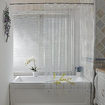 Forro transparente cortinas de chuveiro plástico à prova d'água para banheiro
