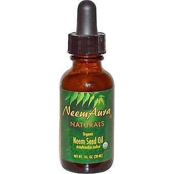 NeemAura, Organic, Neem Seed Oil, 1 fl oz (30 ml)