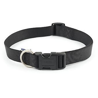 Ancol Nylon Regolatorable Collar - Taglia 5-9 (18-28 pollici) - Nero