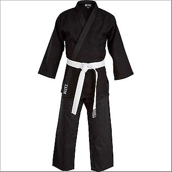 Blitz sports cotton adult judo suit - black