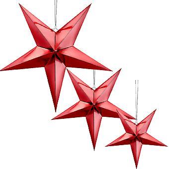 punainen metallifolio roikkuu paperi tähti joulujuhla koristelu - 45cm