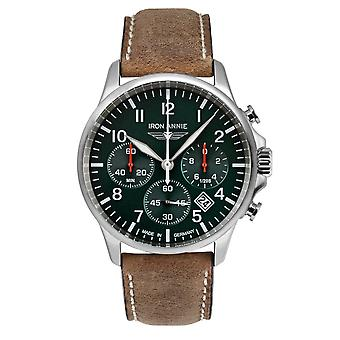 Iron Annie 5872-4 Captain's Line Green Dial With Chronograph Wristwatch
