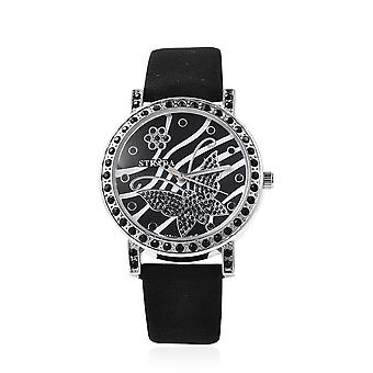 STRADA Japanese Movement Simulated Spinel Studded Dial Water Resistant Watch