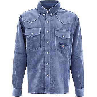 Billionaire B20233blue Men's Blue Cotton Shirt
