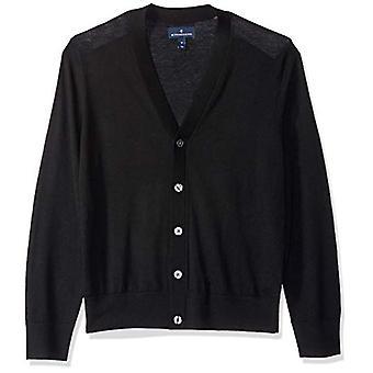 BUTTONED DOWN Men's Italian Merino Wool Lightweight Cashwool Cardigan Sweater...