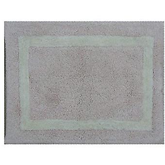 Spura Home الهندي المصنوع يدوياً الشرقية الوردي حمام حصيرة W / الأبيض الحدود 24x40