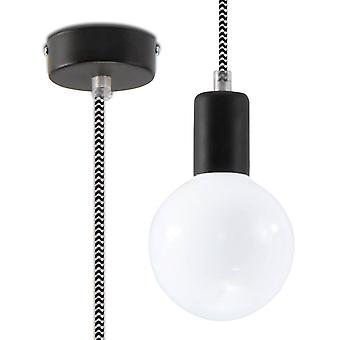 1 Light Ceiling Pendant Black & White, E27