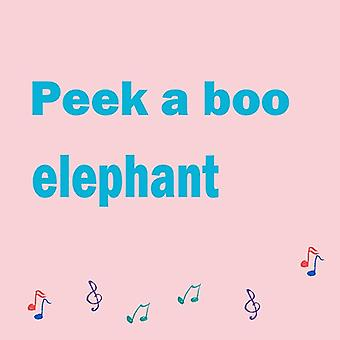 Peek A Boo Elephant Stuffed Plush Electric Toy Talking - Singing - Musical - Play Hide And Seek For Kids Gift