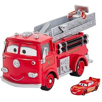Cars Color Change Red Firetruck cu Lightning McQueen Kids Toy