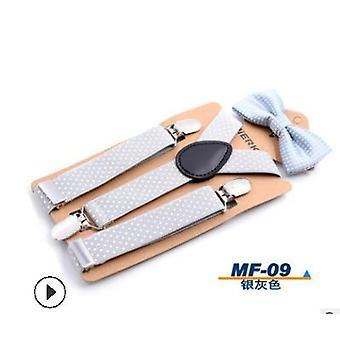 Gyermekek harisnyatartó clip csokornyakkendő body suit ok-okozati divat dot aranyos kisgyermek gyerek set