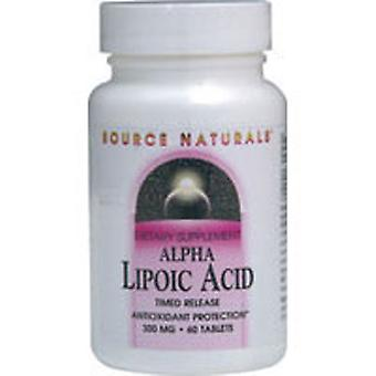 Source Naturals Alpha Lipoic Acid, 300 MG, Timed Release 60 Tabs