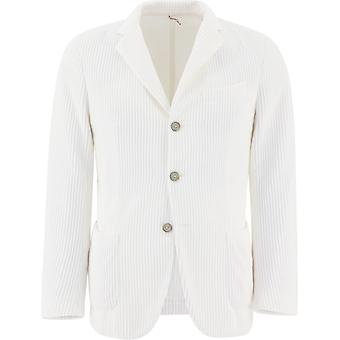 Santaniello Ds26446l729mf01p Men's White Cotton Blazer