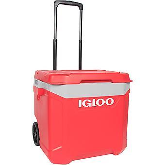 IGLOO Latitude 60 qt. Roller Hard Cooler - Red