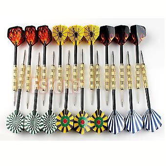 18 Pcs (6 Sets) Professional Steel Tip Darts- Flight Steel Tip Dart Darts With