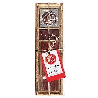 Something Different Root Chakra Wooden Incense Gift Set