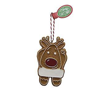 Pendentif d'arbre de Noël BLANC DE PEAU DE PAIN d'épice