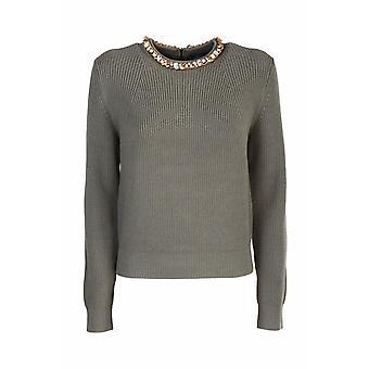 Elisabetta Franchi Mk52s06e2w73 Women's Green Viscose Sweater