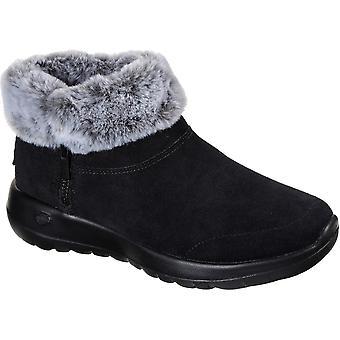 Skechers النساء على الذهاب الفرح والدهاء الرمز البريدي حتى أحذية الكاحل