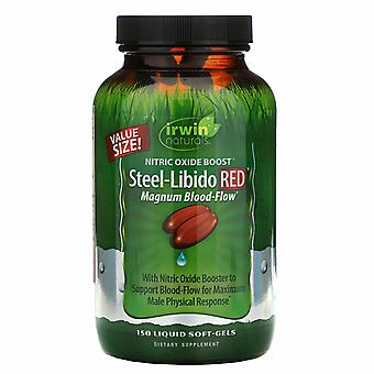 Irwin Naturals Steel-Libido RED Magnum Blood-Flow (150 Softgels)