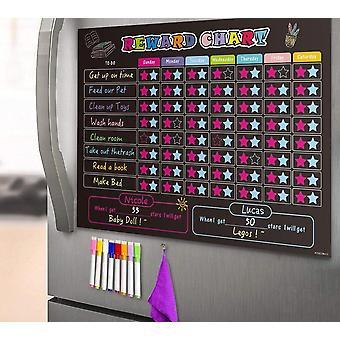 Manyetik Buzdolabı Çocuk Chore Grafik Chalkboard Günlük Planlayıcısı - Takvim Için