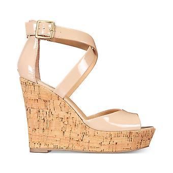 Material Girl Womens Steffy Peep Toe Casual Platform Sandals
