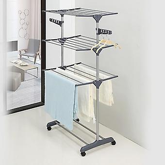 Clothes Hanger/coat Rack Floor Hanger Storage Wardrobe Clothing Drying Racks