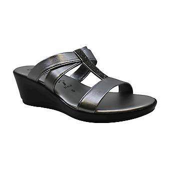 ITALIAN Shoemakers Womens 5678S7 Leather Peep Toe Casual Platform Sandals