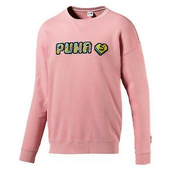 PUMA Pop Style Culture Maker Męski długi rękaw Różowy sweter męski sweter