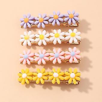 9pcs Daisy Hair Clip Set