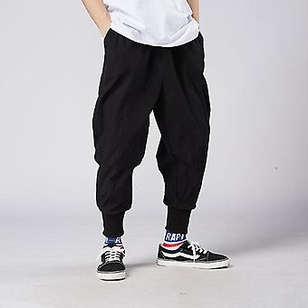 Men Harem Pants, Casual Cotton Linen Trouser, Man Jogger Baggy Pant