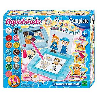 Aquabeads 31588 fantastic starter set over 800 jewel and solid beads - pen tray