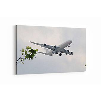 Malerei - Flugzeug erhebt sich gegen Wind - 90x60cm