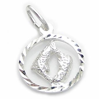 Pisces The Fish Sterling Silver Charm .925 X 1 Small Zodiac Charms - 6105