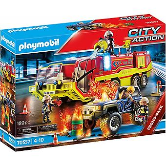 Playmobil City Action Promo Fire Engine com Playset de Caminhão