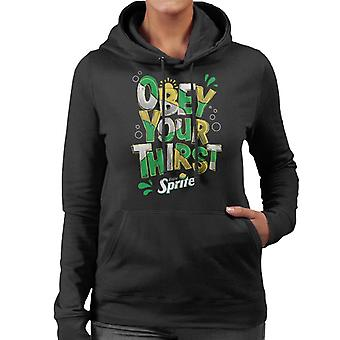 Sprite Enjoy And Obey Your Thirst Women's Hooded Sweatshirt